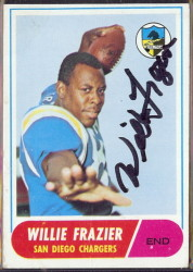 autographed 1968 topps willie frazier
