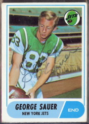 autographed 1968 topps george sauer