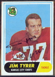 autographed 1968 topps jim tyrer