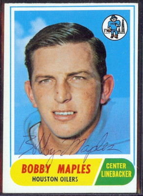 autographed 1968 topps bobby maples