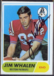 autographed 1968 topps jim whalen