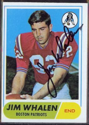 autographed 1968 topps jim whalen