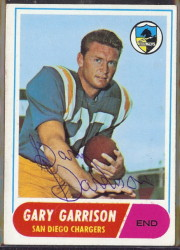 autographed 1968 topps gary garrison
