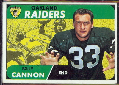 autographed 1968 topps billy cannon