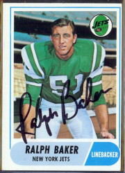 autographed 1968 topps ralph baker