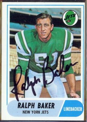 autographed 1968 topps ralph baker