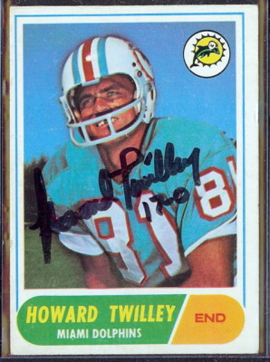 autographed 1968 topps howard twilley