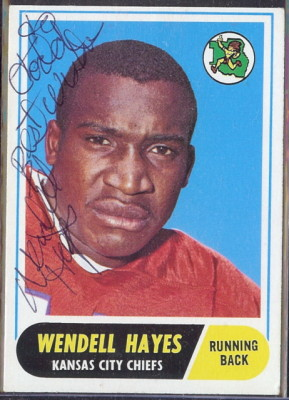 autographed 1968 topps wendell hayes