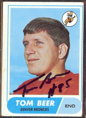 autographed 1968 topps tom beer