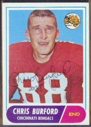autographed 1968 topps chris burford