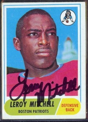 autographed 1968 topps leroy mitchell