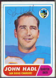 autographed 1968 topps john hadl