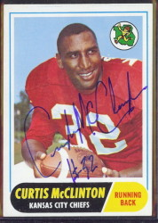 autographed 1968 topps curtis mcclinton