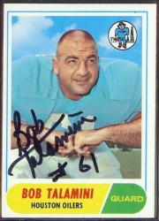 autographed 1968 topps bob talamini