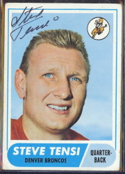 autographed 1968 topps steve tensi