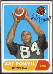 autographed 1968 topps art powell