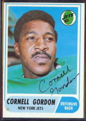 autographed 1968 topps cornell gordon