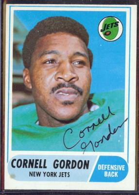 autographed 1968 topps cornell gordon