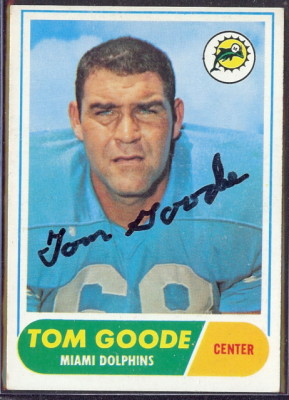 autographed 1968 topps tom goode