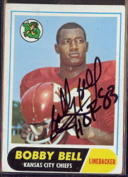 autographed 1968 topps bobby bell