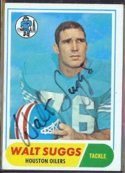 autographed 1968 topps walt suggs