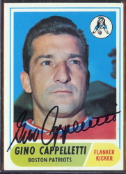 autographed 1968 topps gino cappelletti