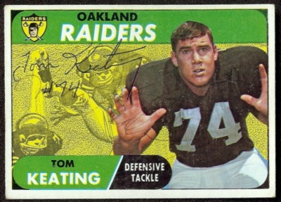 autographed 1968 topps tom keating