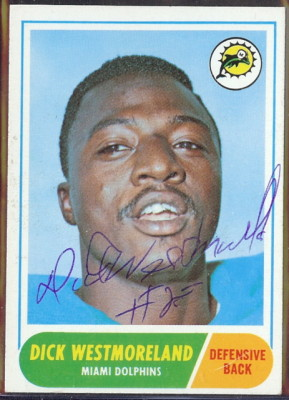 autographed 1968 topps dick westmoreland