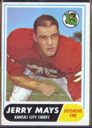 autographed 1968 topps jerry mays