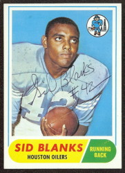 autographed 1968 topps sid blanks