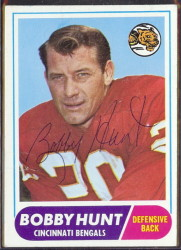 autographed 1968 topps bobby hunt