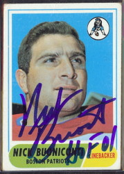 autographed 1968 topps nick buoniconti