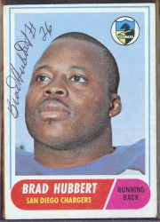 autographed 1968 topps brad hubbert