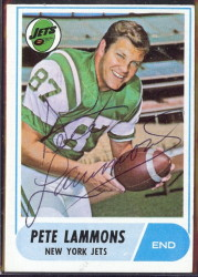 autographed 1968 topps pete lammons