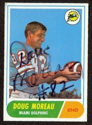 autographed 1968 topps doug moreau