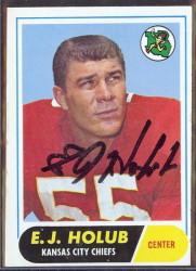 autographed 1968 topps ej holub
