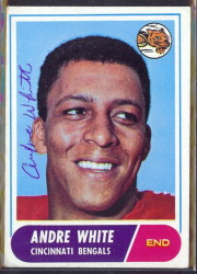autographed 1968 topps andre white