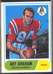autographed 1968 topps art graham