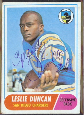 autographed 1968 topps leslie duncan