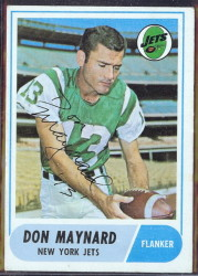 autographed 1968 topps don maynard