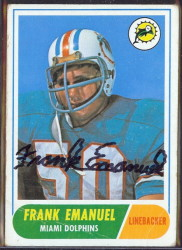autographed 1968 topps frank emanuel