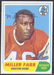autographed 1968 topps miller farr