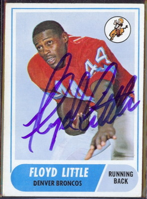 autographed 1968 topps floyd little