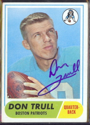 autographed 1968 topps don trull