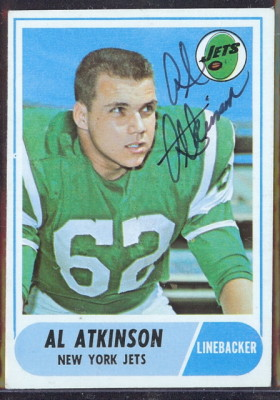 autographed 1968 topps al atkinson