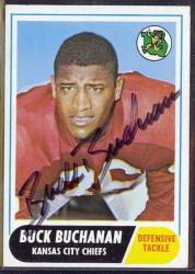 autographed 1968 topps buck buchanan