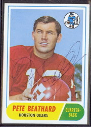 autographed 1968 topps pete beathard