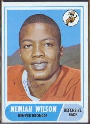 autographed 1968 topps nemiah wilson