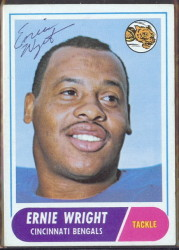 autographed 1968 topps ernie wright