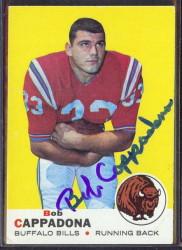 autographed 1969 topps bob cappadonna